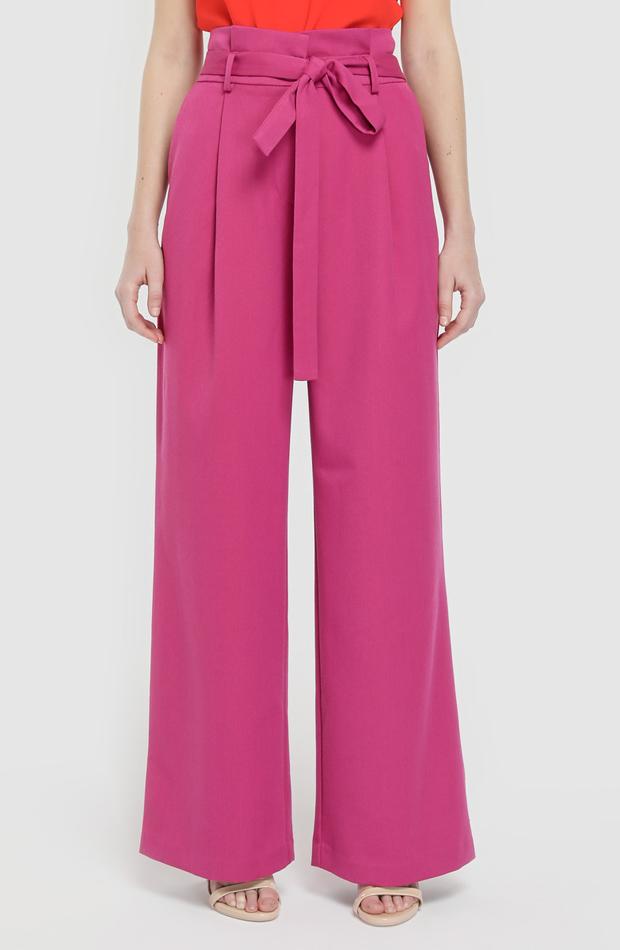 Pantalón ancho con cinturón de Vero Moda: prendas rosa