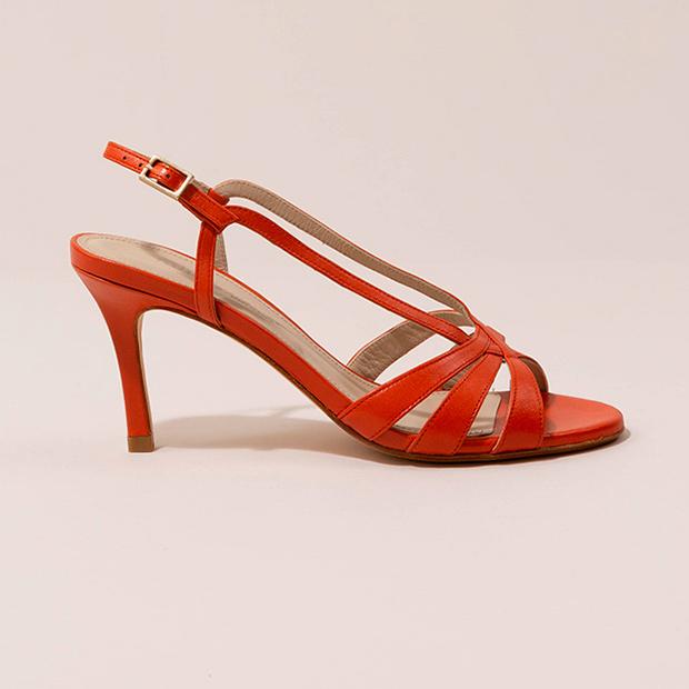 Sandalias rojas de Mint & Rose