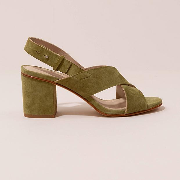 Sandalias verde de Mint & Rose