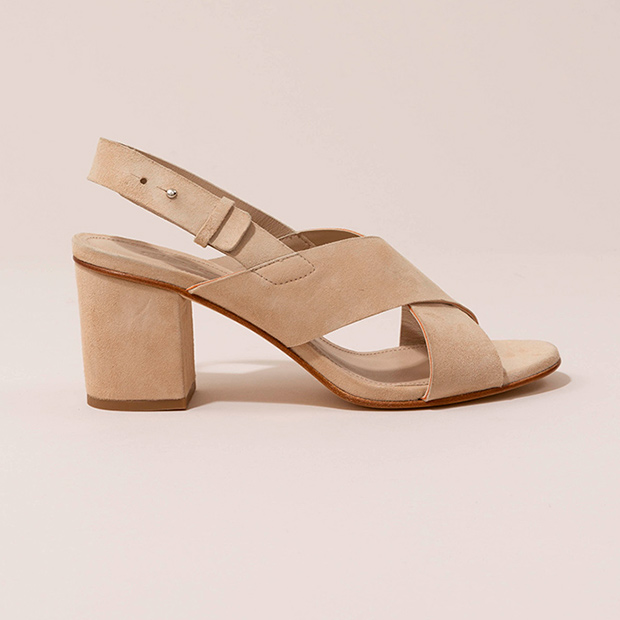 Sandalias beige de Mint & Rose