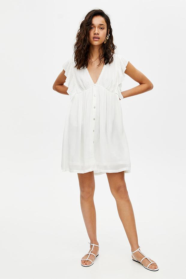 Vestido blanco de Pull & Bear