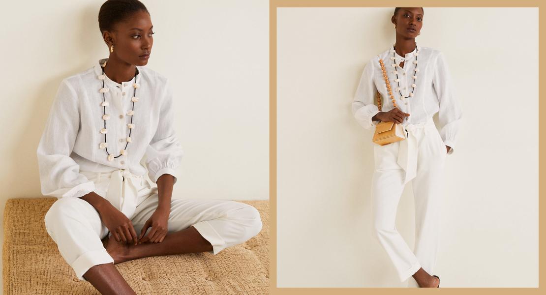 e7870413e3 15 pantalones que te quedarán genial con una camisa blanca - StyleLovely