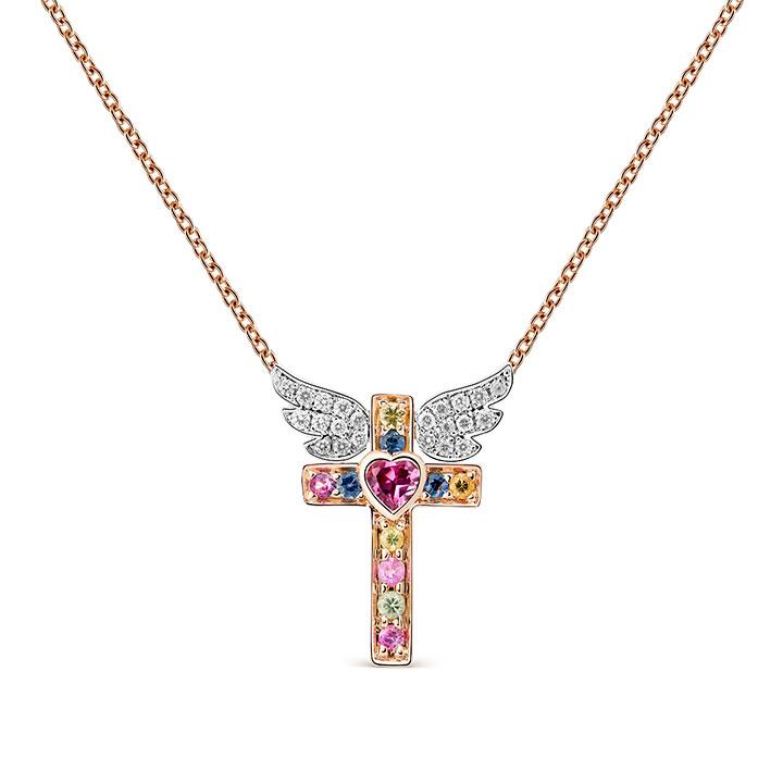 Colgante en cruz de los Amuletos de Frida