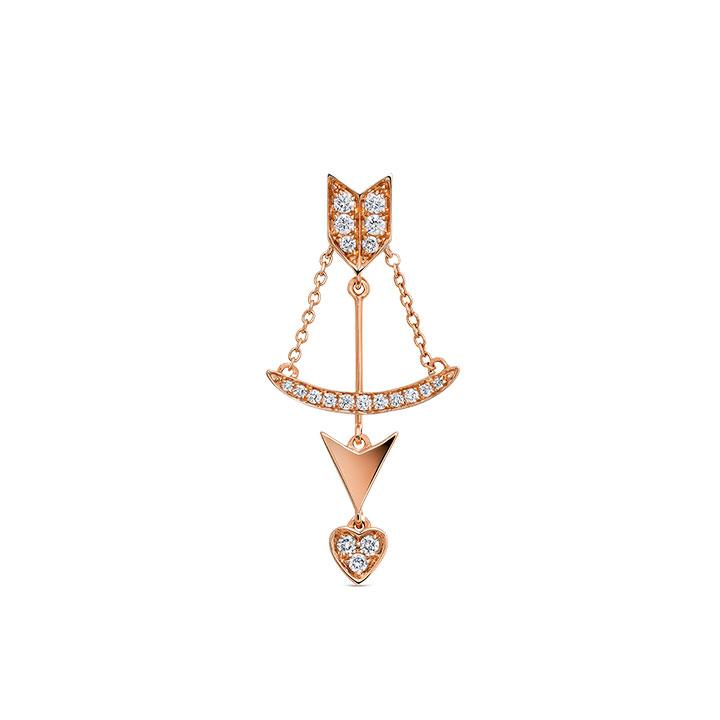 Pendiente de arco y flecha de Romeo y Julieta de la colección mix and match
