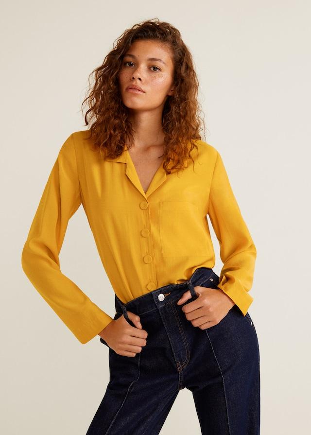 Blusa de Mango mostaza