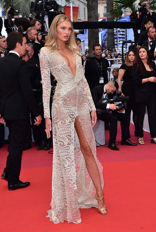 Romee Strijd en el Festival de cine de Cannes 2019