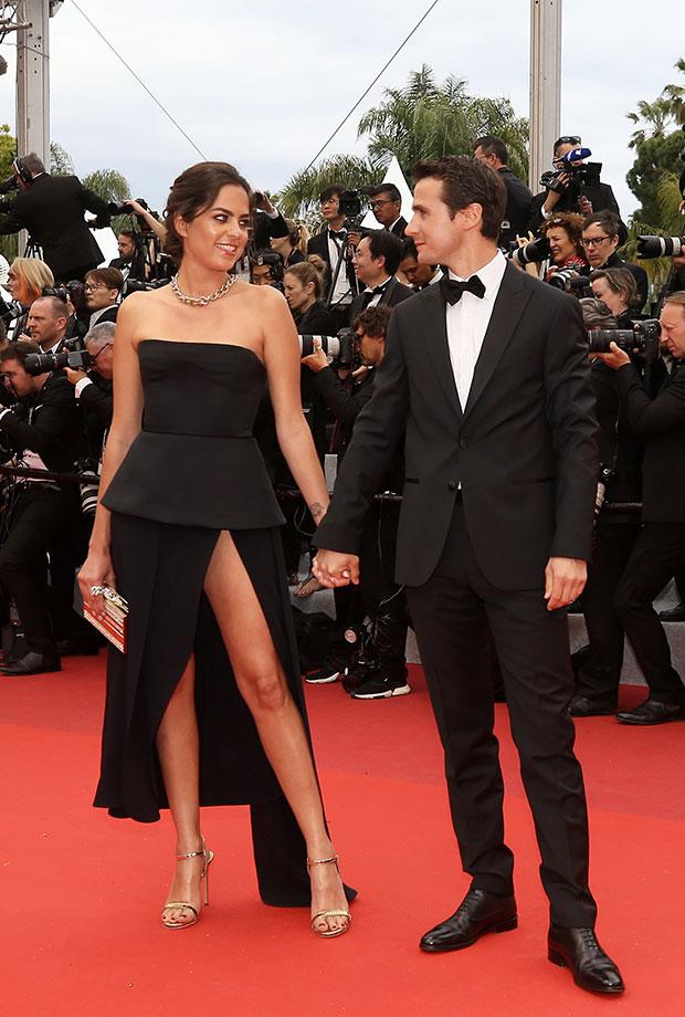 Anouchka Delon y Julien Dereims en el Festival de cine de Cannes 2019