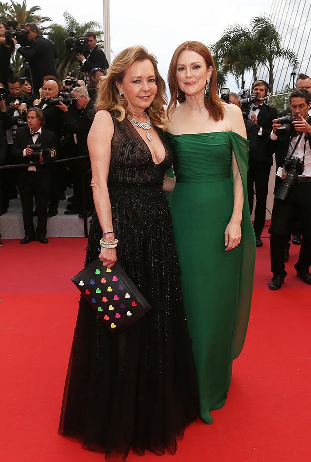 Caroline Scheufele y Julianne Moore