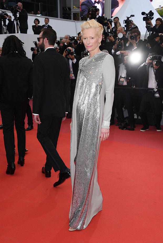 Tilda Swinton en el Festival de cine de Cannes 2019