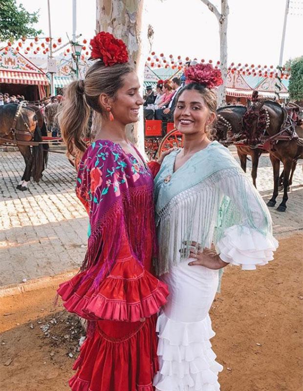 María Pombo y María García de Jaime en la Feria de Sevilla 2019