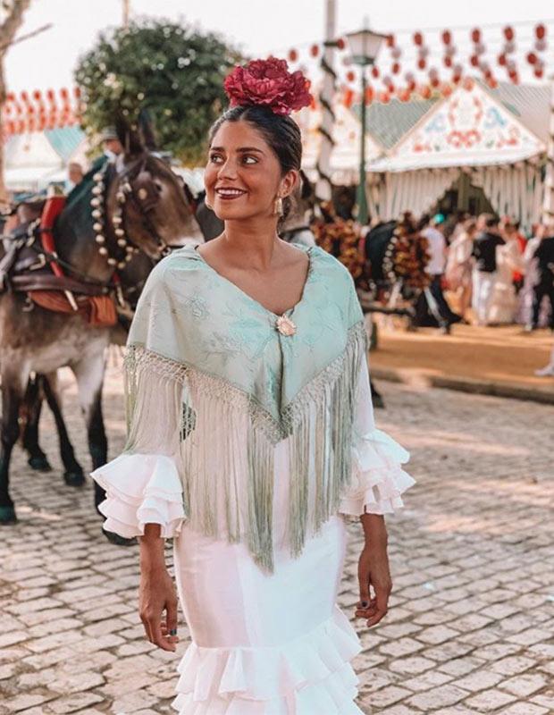 María García de Jaime en la Feria de Sevilla 2019