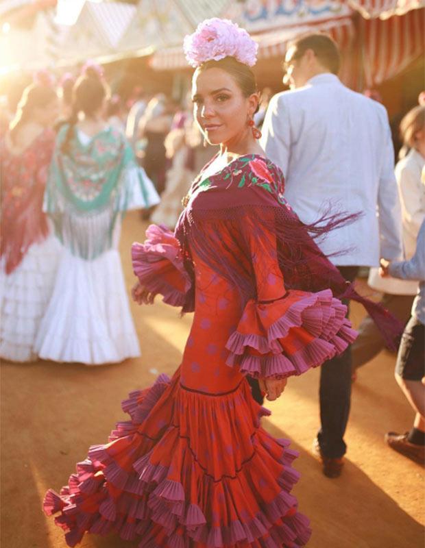 Paula Ordovás en la Feria de Sevilla 2019