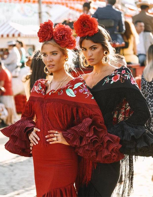 Teresa Andrés y Marta Lozano en la Feria de Sevilla 2019