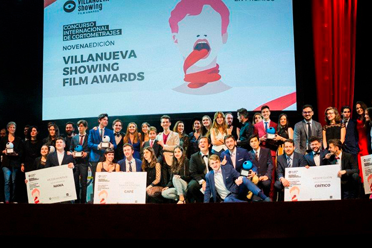 Premiados del Villanueva Showing Film Awards