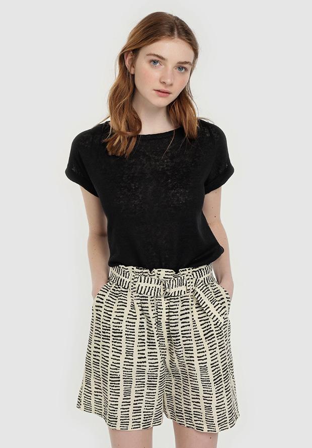 Shorts estampados con cinturón de Easy Wear