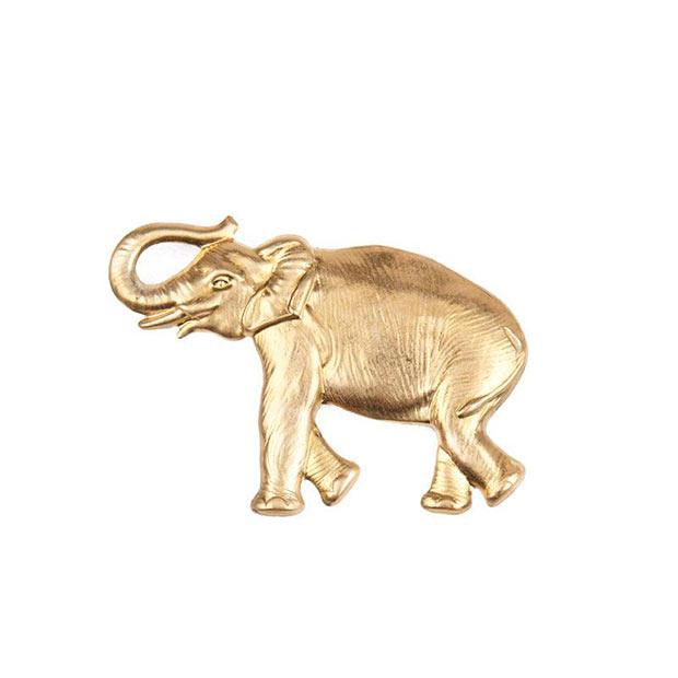 Broche Elefante en dorado de Trepillé