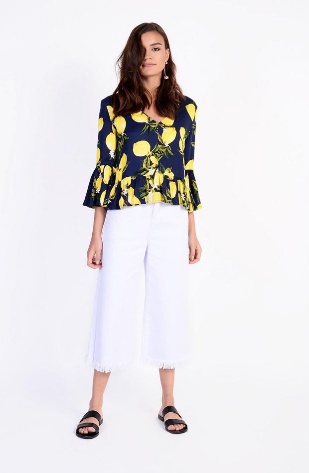 Camisa de Topshop con estampado de limones