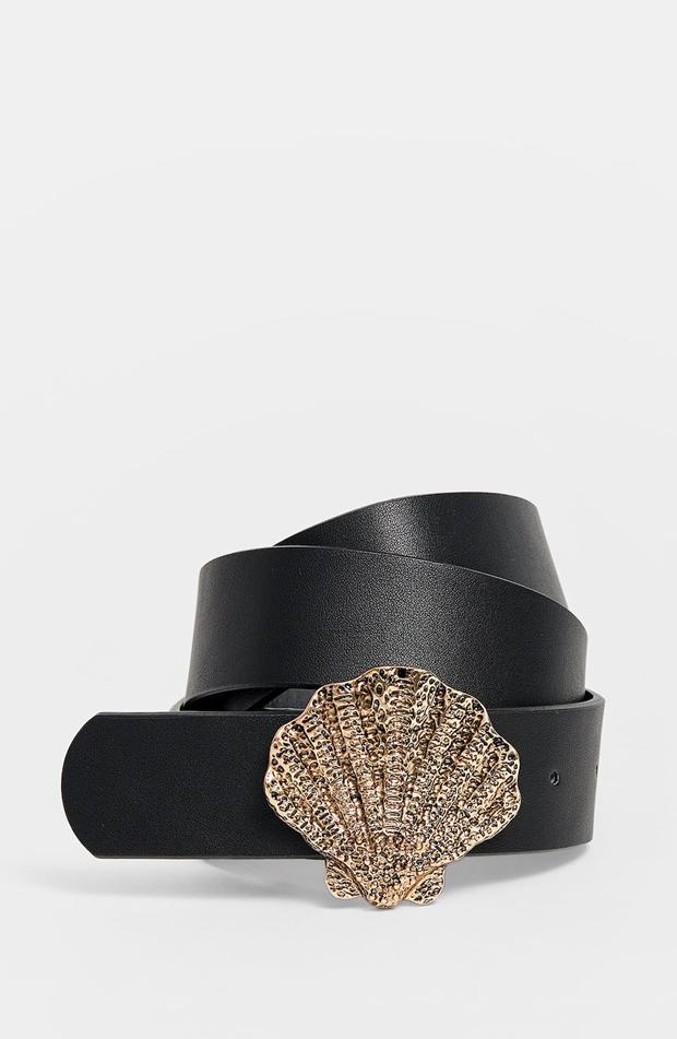 Cinturón con hebilla de concha de verano