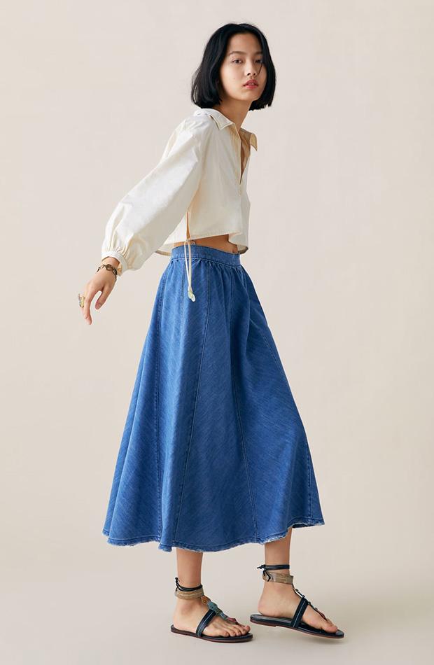 Falda swing de Zara