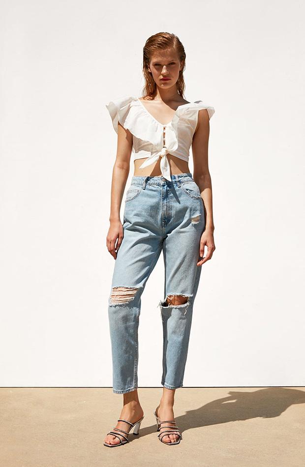 Jeans mom rotos de Zara