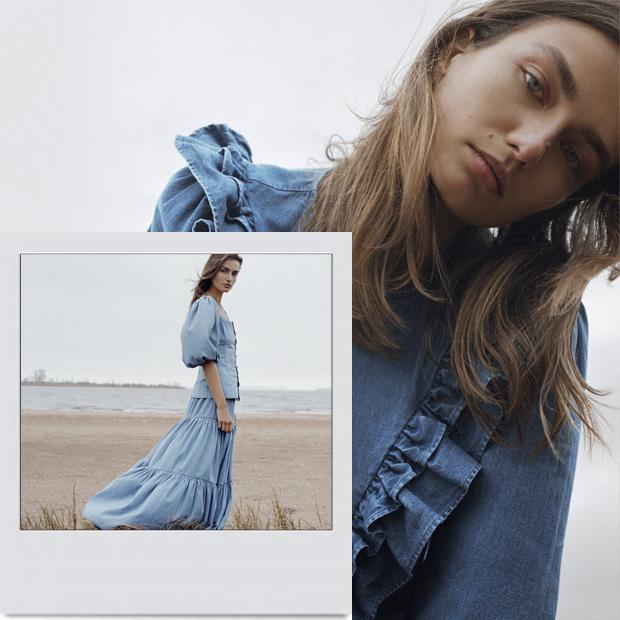 Editorial denim on denim de Zara