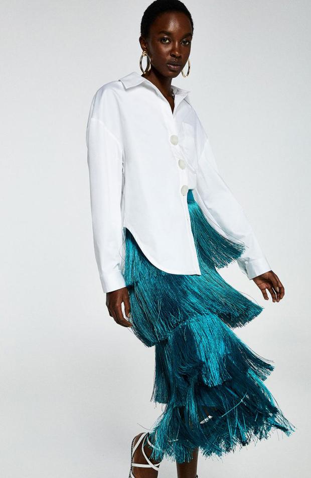 Falda de flecos de ropa de fiesta de verano