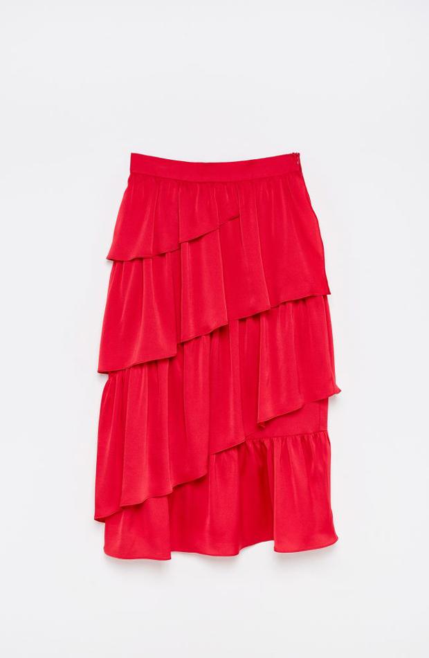 Falda de volantes de ropa de fiesta de verano