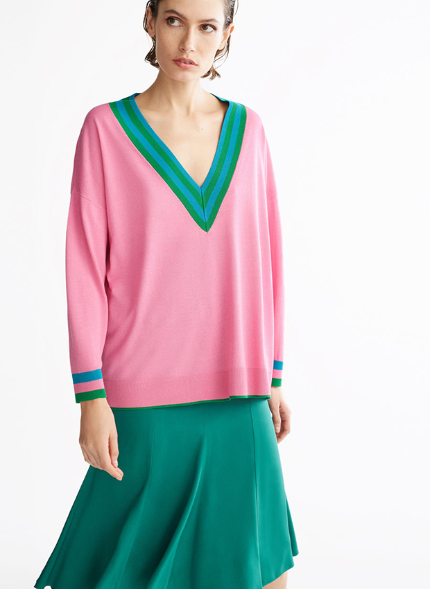 Jersey de pico rosa de Uterqüe