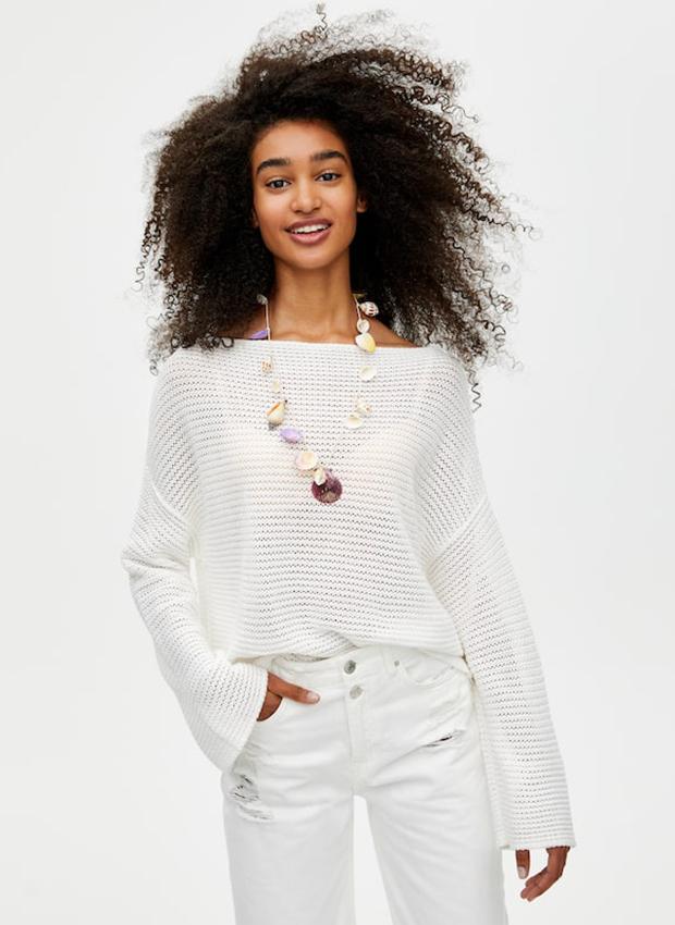 Jersey calado de crochet de Pull&Bear