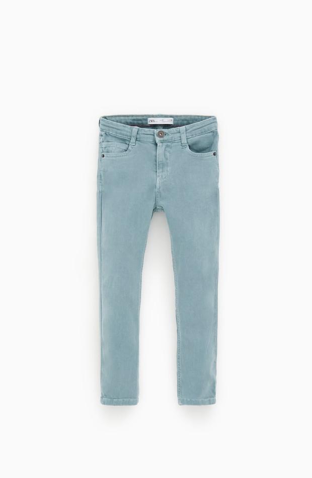 Pantalón azul de la colección verano 2019 de Zara Kids