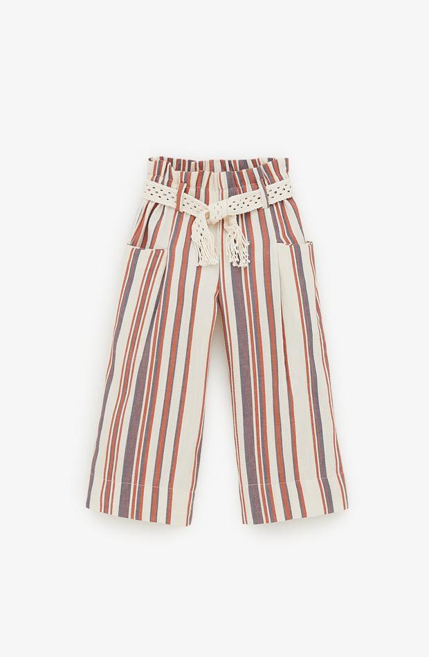 Pantalón fluido a rayas de la colección verano 2019 de Zara Kids