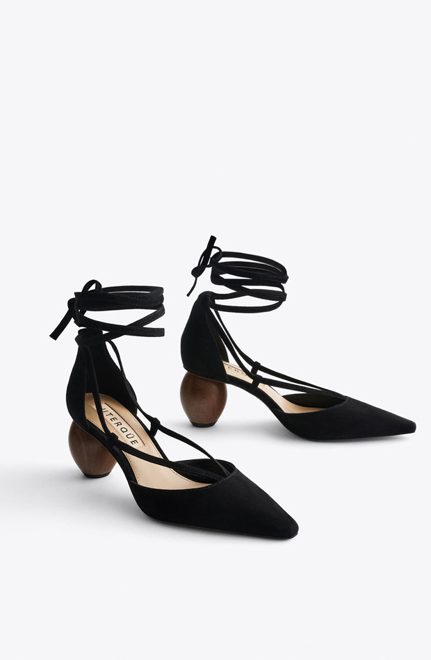 Zapatos de tacón de madera de fiesta