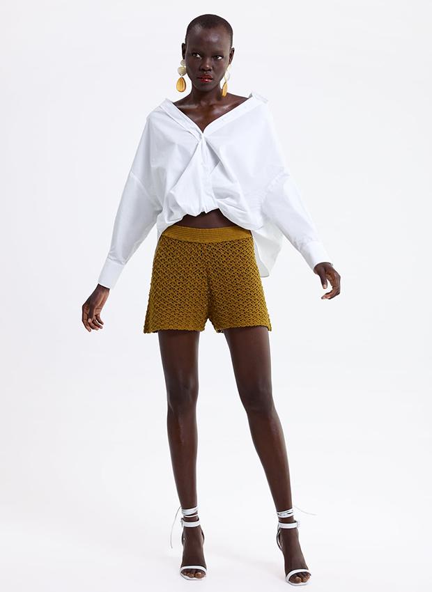 Bermudo de crochet de Zara