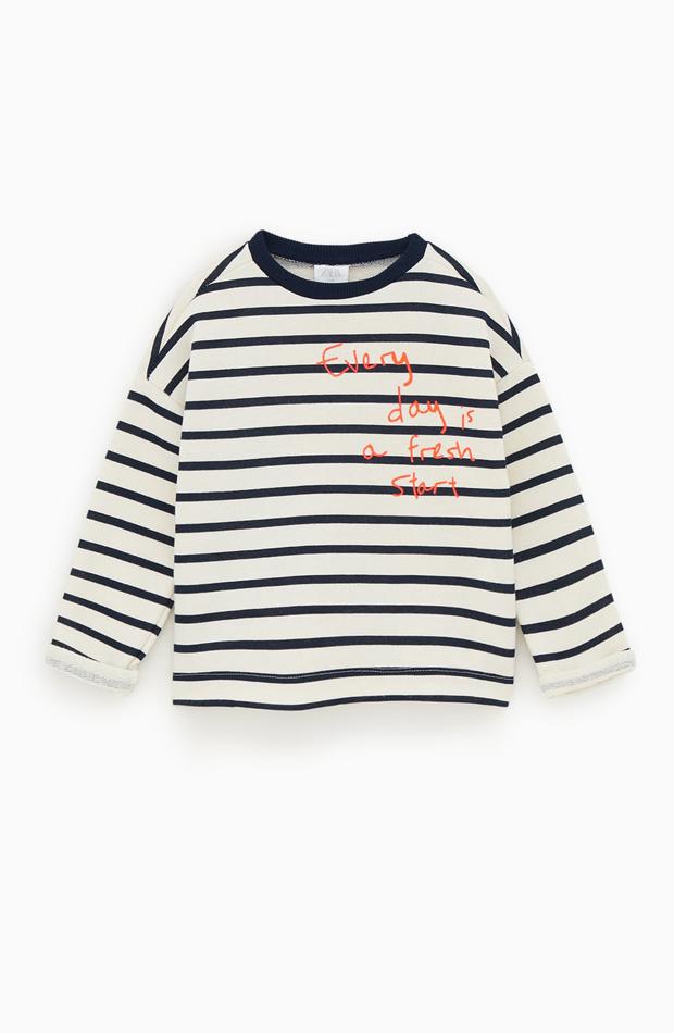 Jersey a rayas marineras de la colección verano 2019 de Zara Kids