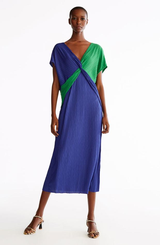 Vestido bicolor de ropa de fiesta de verano