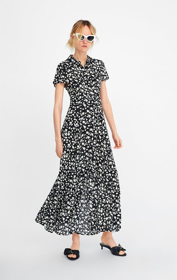 Vestido de Zara con estampado floral