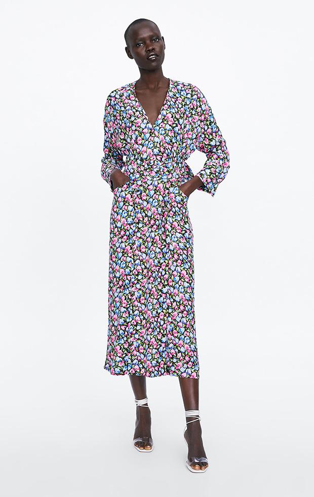Vestido de Zara con estampado de flores
