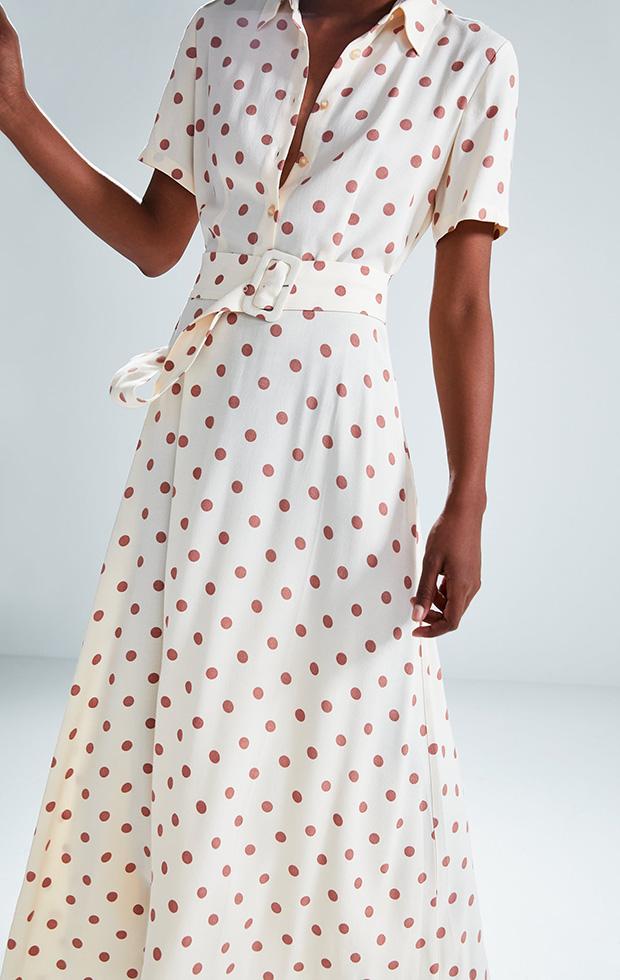 Vestido de Zara con lunares