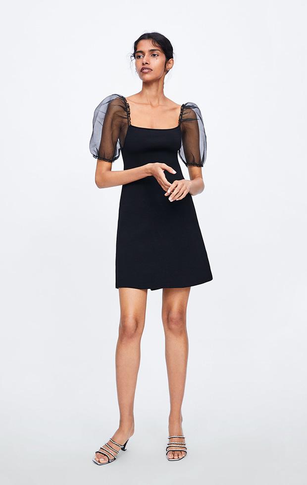 Vestido de Zara con mangas farol