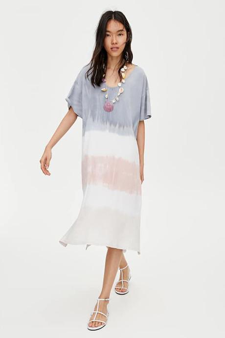 Vestido de estampado tie-dye