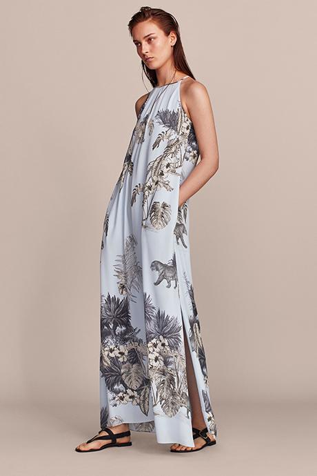 Vestido largo estampado de Massimo Dutti