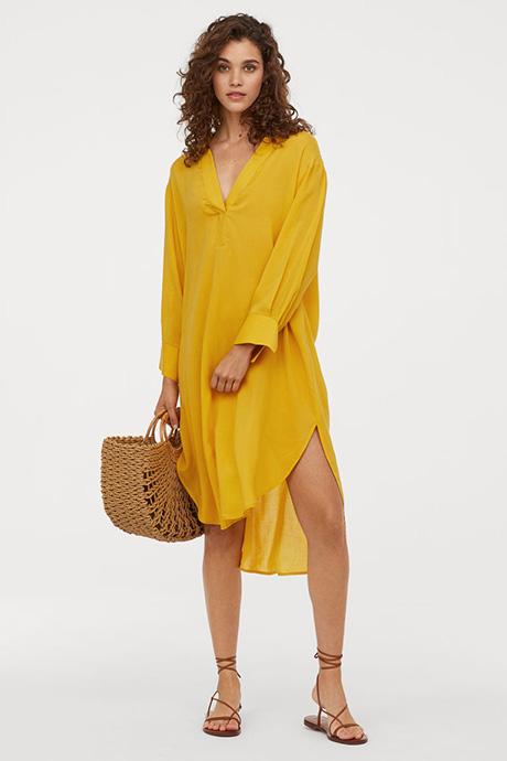 Túnica amarilla de H&M