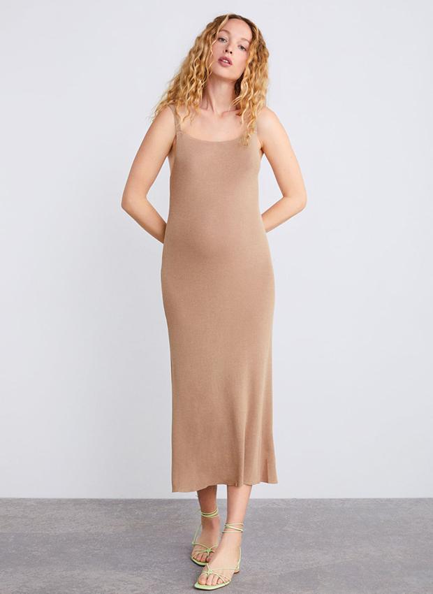 Vestido ceñido de punto de Zara