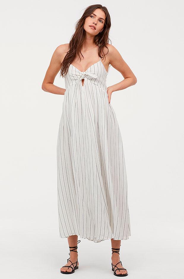 Vestido con nudo decorativo de H&M