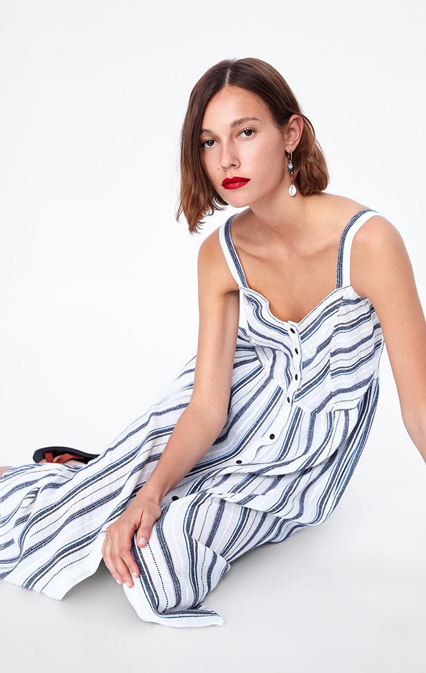 Vestido de Zara con estampado de rayas