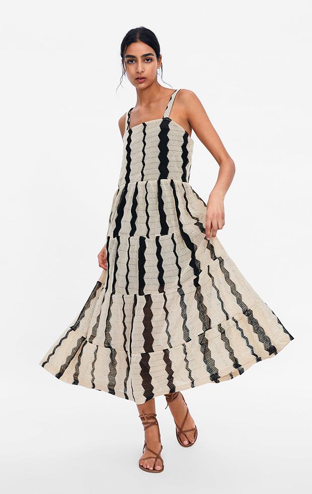 Vestido de Zara de rayas