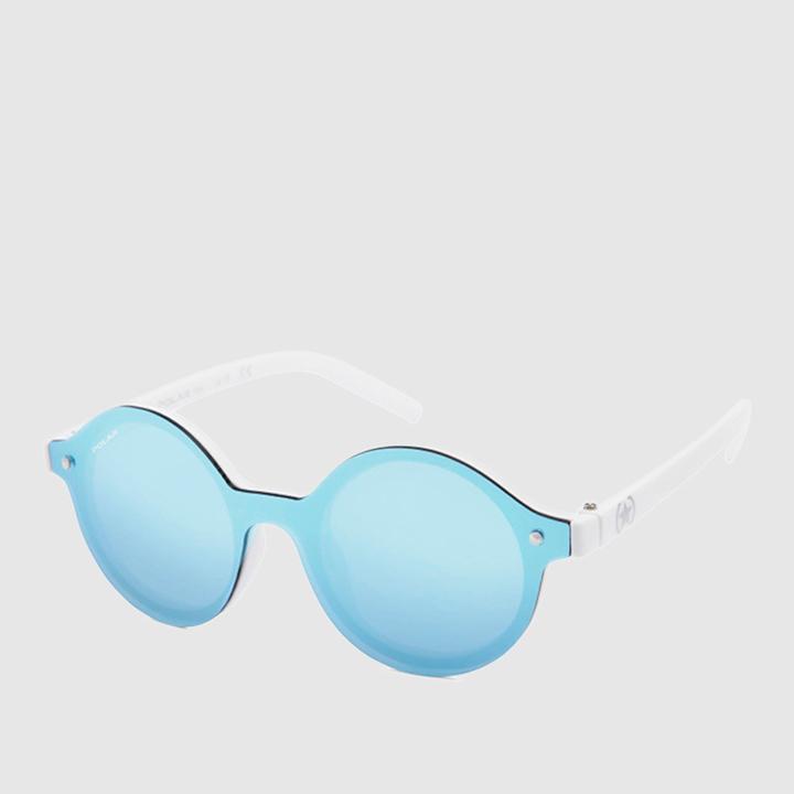 gafas de sol verano 2019: Gafas de sol unisex pantos de lente única en blanco de Polar