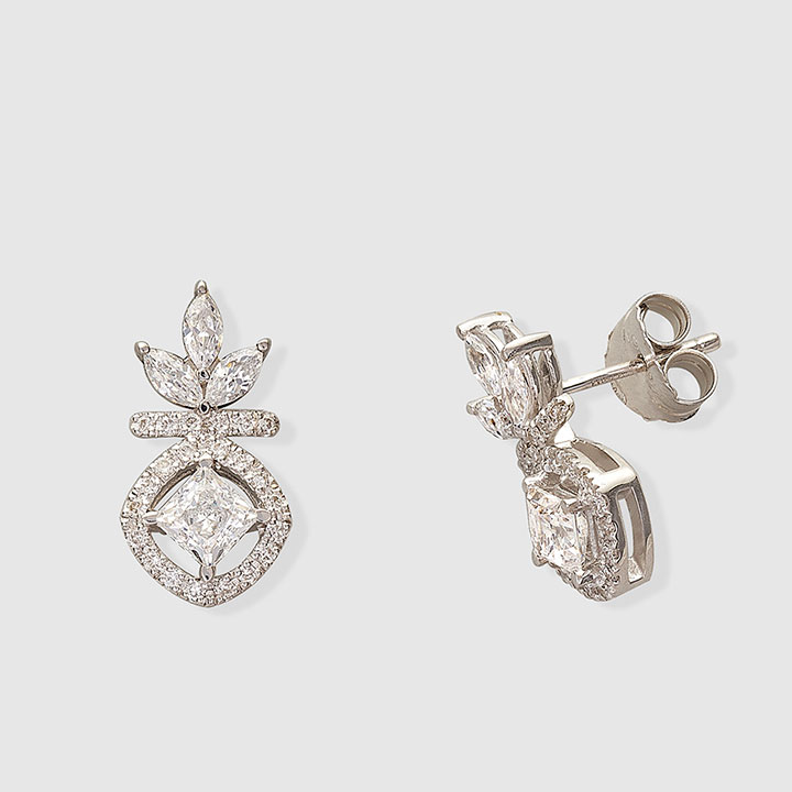 01c419aacc0a Los pendientes más ideales para las novias actuales - StyleLovely