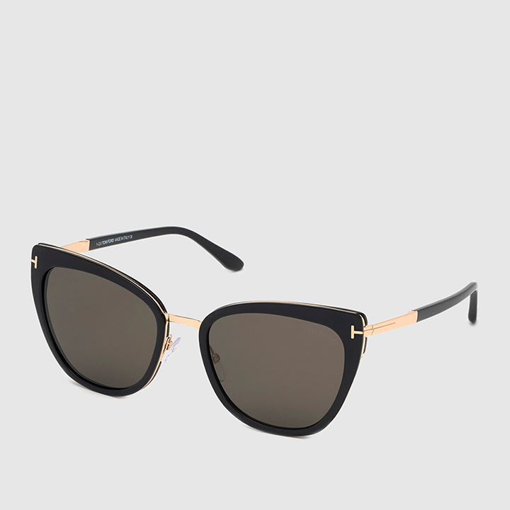 Gafas de sol cat eye con montura de acetato en negro de Tom Ford