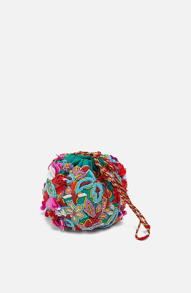 bolso de coloresy texturas estilo bombonera